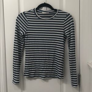 Reformation JACKIE TOP ribbed long sleeve - M